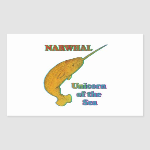 Narwhal - unicornio del mar pegatina rectangular