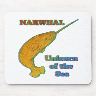Narwhal - unicornio del mar tapete de raton