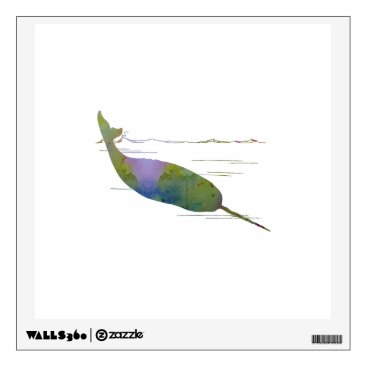 Beach Themed Narwhal Wall Decal