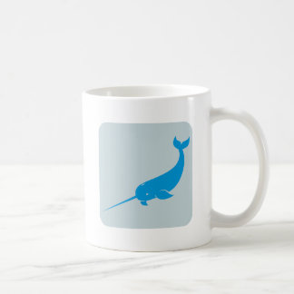 Narwhal Whale Icon Mugs