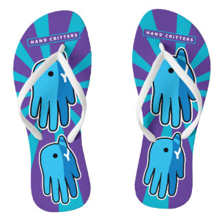 Narwhal Whale Tooth Flip Flops