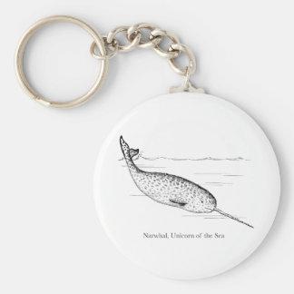 Narwhal Whale Unicorn of the Sea Keychain