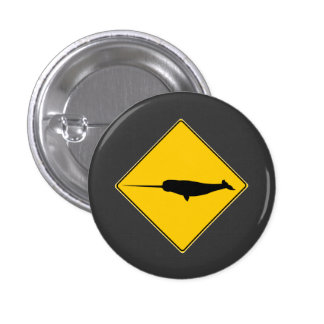 Narwhal X-ing Sign Pinback Buttons