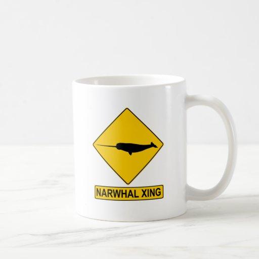 Narwhal X-ing Sign Classic White Coffee Mug