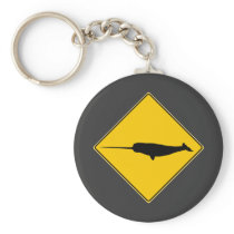 Narwhal X-ing Sign Keychain