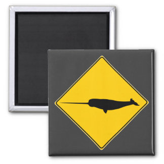 Narwhal X-ing Sign Magnets