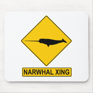 Narwhal X-ing Sign Mouse Pad