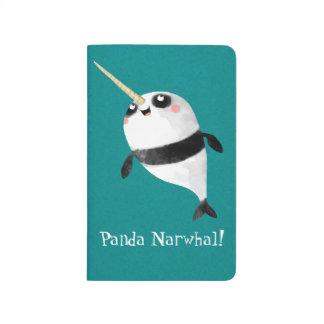 Narwhal y panda en uno cuadernos grapados