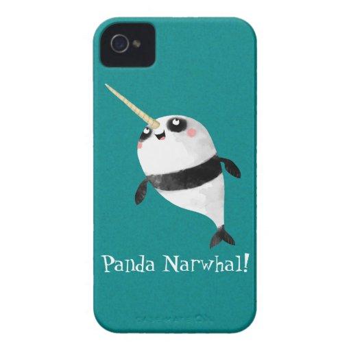 Narwhal y panda en uno iPhone 4 Case-Mate cárcasa
