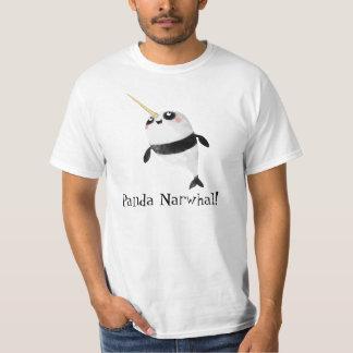 Narwhal y panda en uno remera