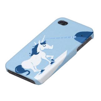 Narwhal y unicornio iPhone 4 carcasas