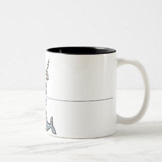 narwhale and donut coffee mug
