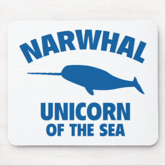 Narwhale Unicorn Of The Sea Mouse Pad