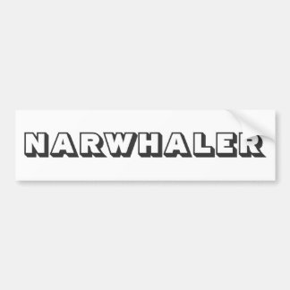 Narwhaler Logo Bumper Sticker