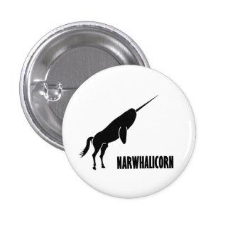 Narwhalicorn Narwhal Unicorn 1 Inch Round Button