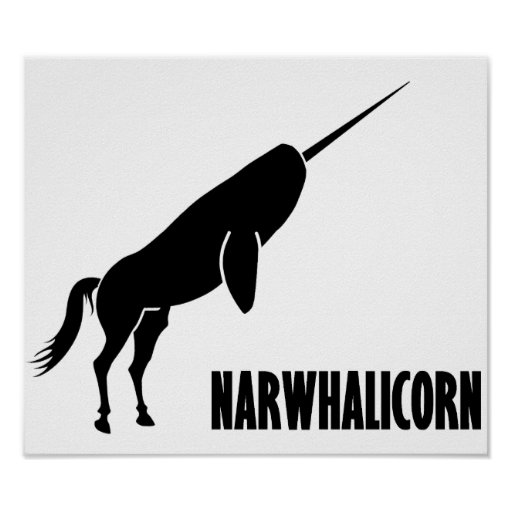 Narwhalicorn Narwhal Unicorn Poster