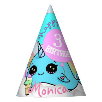 Narwhall and Mermaid Party Favor Hat Persoalized