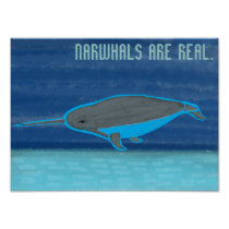 Narwhals are Real Poster