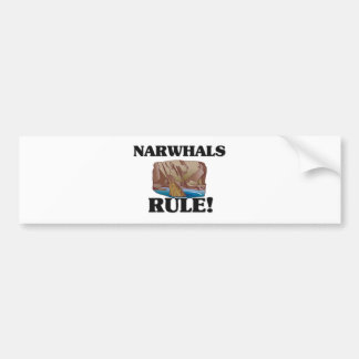 NARWHALS Rule! Bumper Sticker