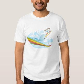 Narwhals Swim On Rainbows Tee Shirt