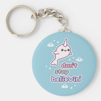 Narwhals with UFOs Keychain
