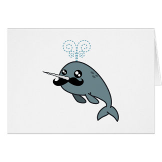 Narwhalstache Greeting Card