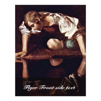 Narzis By Michelangelo Merisi Da Caravaggio Flyers