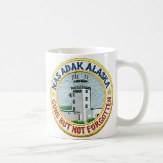 """NAS Adak Coffee Cup """"Gone But Not Forgotten"""" White"""