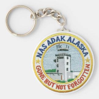 """NAS Adak, llavero """"ido pero no olvidado"""" de Alaska"""