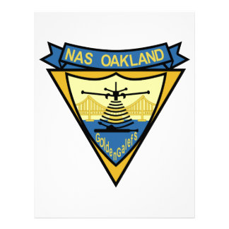 NAS OAKLAND MILITARY PATCH - NAVAL AIR STATION - G LETTERHEAD