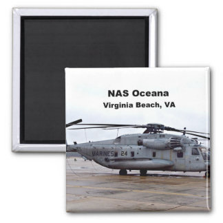 NAS Oceana, Virginia Beach, Virginia 2 Inch Square Magnet
