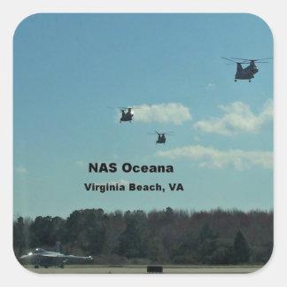 NAS Oceana, Virginia Beach, Virginia Square Sticker