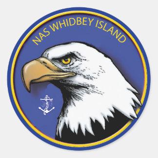 NAS Whidbey Island Classic Round Sticker