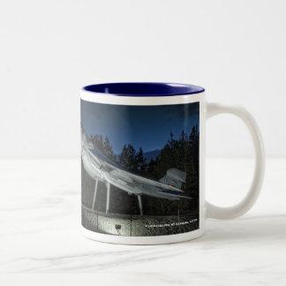 NAS Whidbey Island Coffee Cup, Naval Air Statio... Two-Tone Coffee Mug