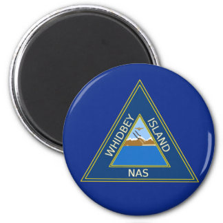 NAS Whidbey Island Patch 2 Inch Round Magnet