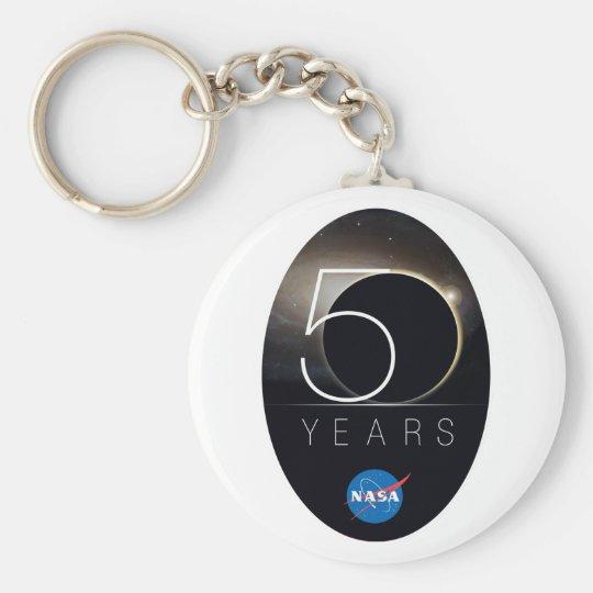 NASA 50th Anniversary Logo Keychain