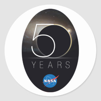 NASA 50th Anniversary Logo Classic Round Sticker
