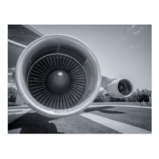NASA 747 Jet Engines Postcard