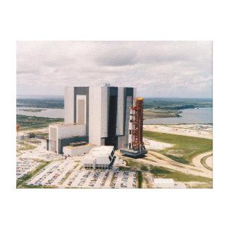 NASA Aerial view Apollp 11 Saturn V rollout Canvas Print
