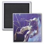 NASA americana del caminante del espacio de Edward Imán