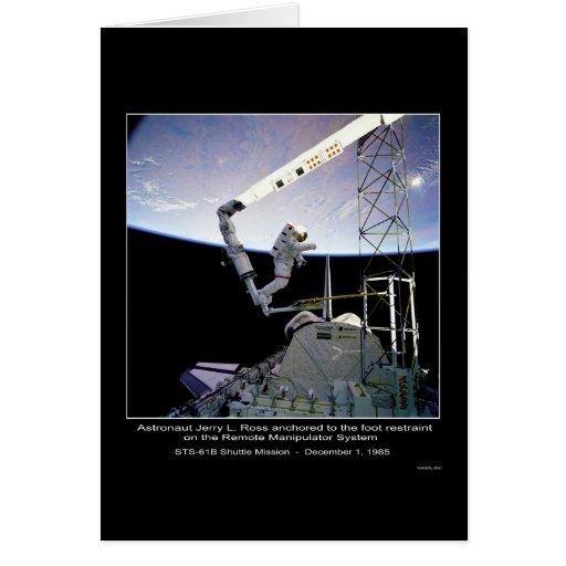 NASA anclada Ross de la NASA STS-61B del astronaut Tarjeta De Felicitación