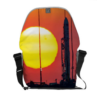 NASA Antares Rocket Sunrise Launch Courier Bag