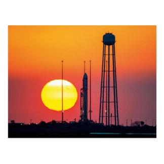 NASA Antares Rocket Sunrise Launch Postcard