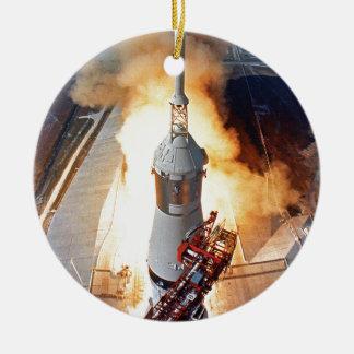 NASA Apollo 11 Moon Landing Rocket Launch Ceramic Ornament