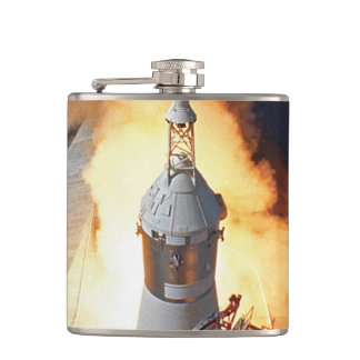 NASA Apollo 11 Moon Landing Rocket Launch Hip Flask