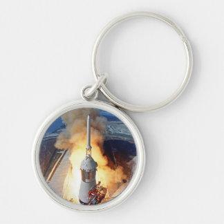 NASA Apollo 11 Moon Landing Rocket Launch Keychain