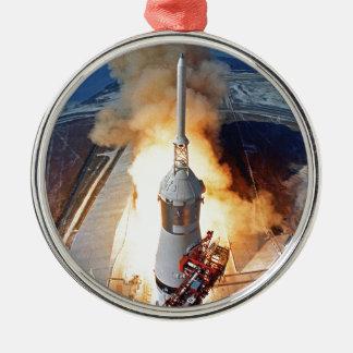 NASA Apollo 11 Moon Landing Rocket Launch Metal Ornament