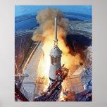 NASA Apollo 11 Moon Landing Rocket Launch Poster