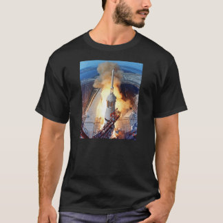 NASA Apollo 11 Moon Landing Rocket Launch T-Shirt