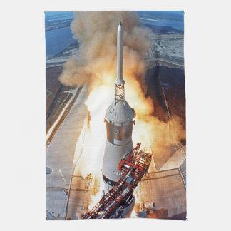 NASA Apollo 11 Moon Landing Rocket Launch Towel